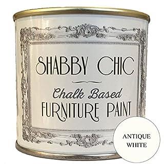 Möbelfarbe, für Möbel im Shabby-Chic-Stil, Farbe: Antique White / Antikweiß 1 Liter