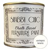Pintura para muebles a la tiza de Shabby Chic Chalk Paint mate en color blanco envejecido (Antique White), 250 ml
