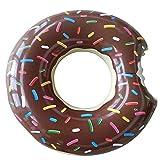 Amaoma Bouée Piscine Donut Bouée Donuts Gonflable Bouee Gonflable 90cm Bouée de Piscine en Forme de Donut pour Adultes et Enfants Bouée d'été Eau Jouet pour Plage Piscine Parc d'Attractions, Brun