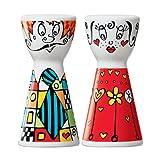 Ritzenhoff Mr. Salt & Mrs. Pepper Salz-und Pfefferstreuer, Kristallglas, Bunt, 3.6 cm