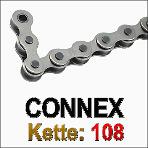 Fahrradkette Connex 108 1/2 x 1/8 112 Glieder, silber