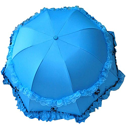 Dentelle Sun Umbrella Princesse Umbrella Arche Vinyle Parasol UV Sunscreen