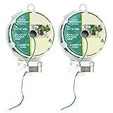 COM de Four® 2unidades 50metros alambre kunststoffummantelter alambre con cuchilla de corte verde