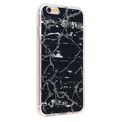 iPhone 6 Plus/6S Plus Bumper Case, iPhone 6 Plus Marmor Handyhülle, iPhone 6S Plus Marmor Handyhülle, Marble Marmor Design, Moon mood® Hülle für Apple iPhone 6 Plus/6S Plus 5.5 Zoll Weich Silikon TPU  Marmor 6