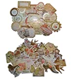 50 Die Cut Shapes and Embellishments for Scrapbooking, Card Making (Royal Green)