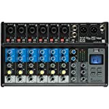 British Acoustics LiveMix 8.2FX - 8 Channel Compact Analogue Mixer with Bluetooth, USB & Effects
