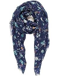 Pañuelos Mujer Bufandas de Flores Estampado Elegante Diseño Español 100% Viscosa
