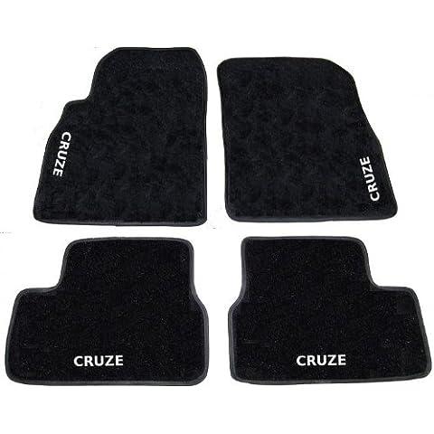 CHEVROLET CRUZE Alfombra negro de coche, set completo de alfombras Alfombrillas a medida de hilo para bordar