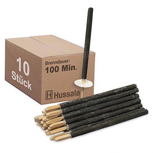 Hussala - Wachsfackeln Brennzeit 100 min - 10 Stück