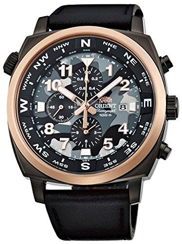 Orient Sporty Chronograph Quarz 100m Pilot Armbanduhr Camouflage tt17003b