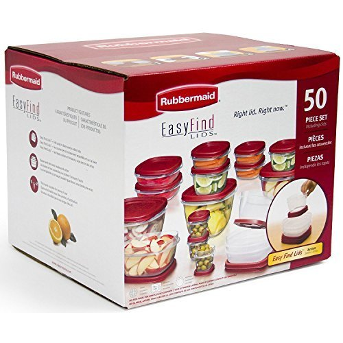 Rubbermaid Easy Find : Rubbermaid 50-piece Easy Find Lids Food Storage Set, Food Storage Containers by Rubbermaid (Container Rubbermaid Food)