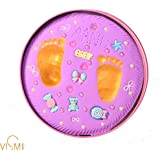 Vismiintrend Clay Handprint And Footprint Kit | Newborn Girls And Boys | Newborn Baby Gift Set | Baby Shower Gift | Baby Naming | Baby Welcoming | First Birthday Gift | Memorable Keepsake | New Parents Gift |