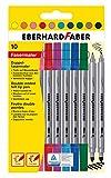 Eberhard Faber 550010 - Doppelfasermaler, 10er Kartonetui
