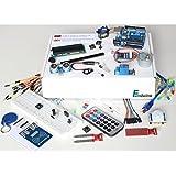 """Lernset für Arduino - """"UNO 8"""" mit UNO R3, Grundausstattung + Relais +IR-FB +Feuchtigkeitssensoren +Schrittmotor +RFID + Deutsche Anleitung - Funduino Kit """"U3FTMR"""""""
