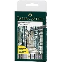 8 lápices de artista Pitt de Faber-Castell (cepillo suave) sombras de gris