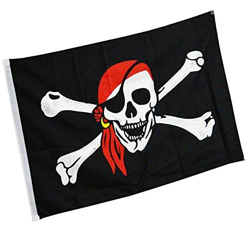Ndier Piraten Flagge Polyester Flagge perfekt für Outdoor & Indoor Flagge 150 * 90cm - Outdoor-flagge