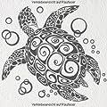 """A076 Wandtattoo """"Bubble Turtle"""" 66cm x 60cm (erh. in 40 Farben und 2 Größen)"""