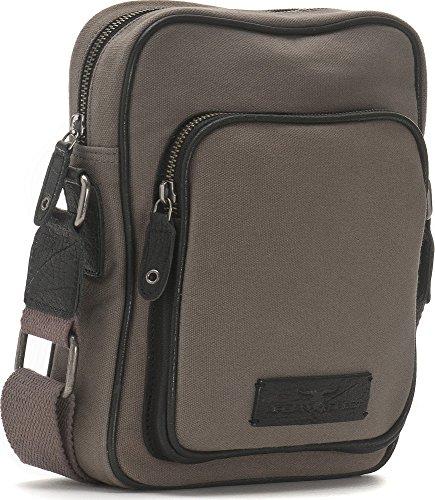 URBAN FOREST, Handtaschen, Business-Bags, Messenger, Messengerbags, Umhängetaschen, Crossover-Bags, Crossbody, 20 x 25,5 x 6,5 cm (B x H x T), Farbe:Khaki (Grün) Grau