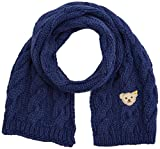 Steiff Mädchen Schal Strick, Blau (Estate Blue 3380), II (Herstellergröße: One Size)