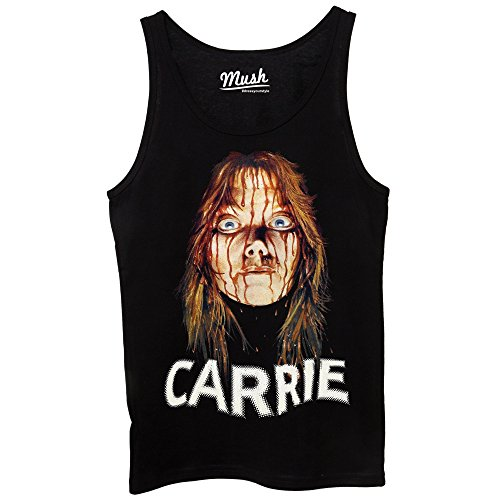 Canotta CARRIE STEPHEN KING - FAMOSI by Mush Dress Your Style Nera