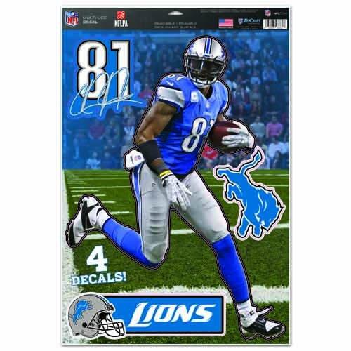 Wincraft NFL Detroit Lions Calvin Johnson Multi Dekorbogen, 27,9x 43,2cm Team Farbe Calvin Johnson Nfl