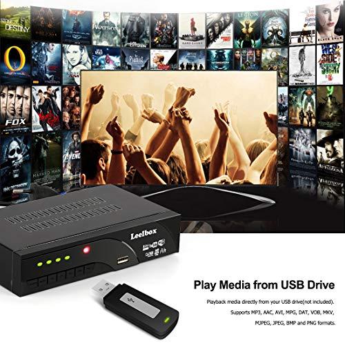 51oaFMJ W9L - Decodificador TDT Terrestre - Leelbox Digital TV HD Euroconector Sintonizador Receptor DVB T2 Tuner Full HD / HD Ready / 1080P / H.264 / MPEG / Dolby / Multimedia (DVB T2, PVR, SCART)