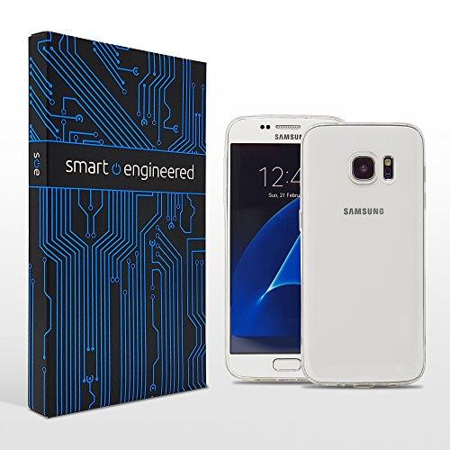 smart engineered Schutzhülle Kompatibel mit Samsung Galaxy S7 Edge [Ultra-Dünn 1-mm][flexibel] [Glasklar-Durchsichtig] Premium Slim-Case Handy-Hülle [Stoßdämpfend Bumper-Case-Cover Schutz-Hülle]