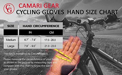 Camari Gear Sports Halbfinger-Fahrradhandschuhe (PAAR) Rennradfahren, Fahrrad, Mountainbike, Fitnessstudio, Fitness-Handschuhe für Männer und Frauen – Atmungsaktive, rutschfeste Handschuhe zum Radfahren (White/Red, Large) - 2
