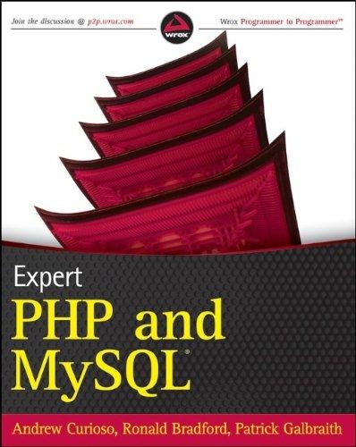 Expert PHP and MySQL by Andrew Curioso (2010-03-29) par Andrew Curioso;Ronald Bradford;Patrick Galbraith