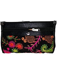 Rapidcostore Black Women Clutches Wallet Handbag Purse For Ladies Girl For Wedding Bridal Party Special Occasion...