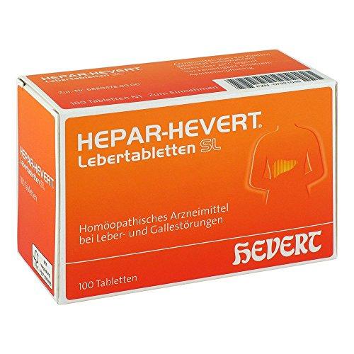HEPAR HEVERT Lebertabletten 100 St Tabletten