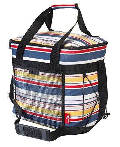 Grand Sac Isotherme de Pique nique Aquabourne - 28 litre – sac à dos avec bretelles– Motif à rayures (Stripe)