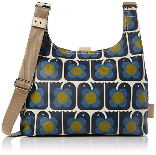 Orla Kiely Love Birds Print Midi Sling Bag, Sacs portés épaule Bleu Marine