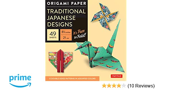 Origami Paper Traditional Japanese Designs Large Packs Amazoncouk Periplus Editions 9780804841900 Books