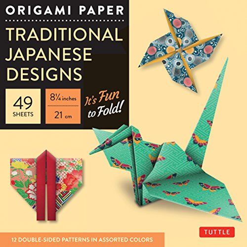 Origami Paper: Traditional Japanese Designs Large (Origami Paper Packs) por Tuttle Publishing