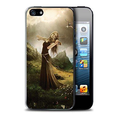 Officiel Elena Dudina Coque / Etui pour Apple iPhone SE / Pack 6pcs Design / Réconfort Musique Collection Chanson de Fleurs