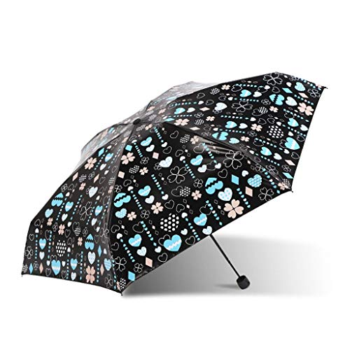 Unbekannt Lightweight Five-falt Pocket Sonnenschirm Fresh Sunscreen Regenschutz-Regenschirm für Zwei Personen THANSANDAU (Farbe : Skin Tone) -