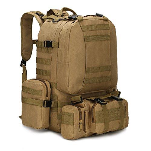 BULAGE Paket Multifunktional Rucksäcke Militärische Fans Taktik Schultern Taille Im Freien Mit Hohen Kapazität Tarnung Wandern Reisen Wandern DA