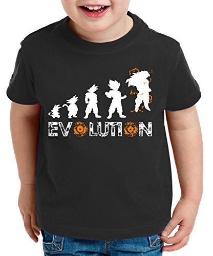 Evolution Super Son Camiseta para Niños T-Shirt Goku Dragon Master Ball Vegeta Turtle Roshi Db, Farbe2:Negro;Kinder T-Shirt Größe:152/164
