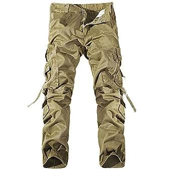 toogoo r casuel pantalon cargo militaire multi poches pour hommes chic pantalons shorts. Black Bedroom Furniture Sets. Home Design Ideas