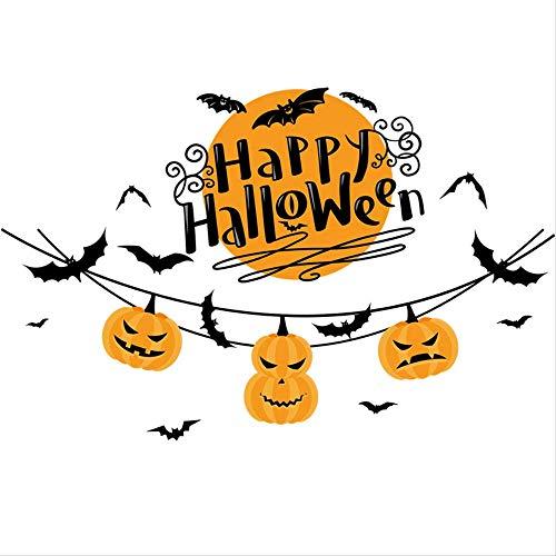 Halloween Dekorationen Kinderzimmer Restaurant Kindergarten Cartoon Kürbis Lampe Wandaufkleber Horror Ghost Festival Glasaufkleber