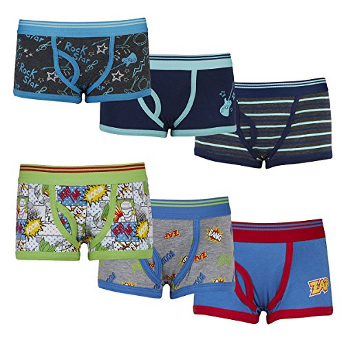Childrens Kids Boys Boxer Shorts (3 Pack, Sizes 2-13 Years) Elasticated Hypoallergenic Cotton Multipack - Novelty Designer Trunks