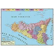 Amazon carta geografica sicilia carta geografica murale sicilia 100x140 bifacciale fisica e politica thecheapjerseys Gallery