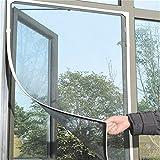Moustiquaire pour fenêtre moustiquaire avec Bande Velcro Invisible à Voile Rideau pour fenêtre pour Protection de Insectes et moustiques, Blanc 150x 130cm [Kitchen]