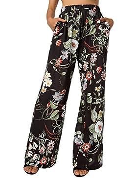 BAISHENGGT Pantalón - Floral - para Mujer