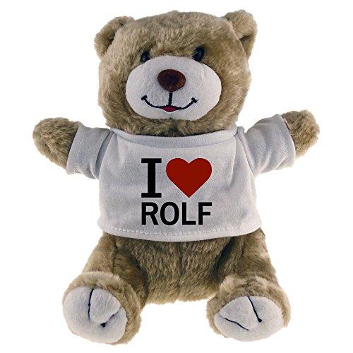 Preisvergleich Produktbild Kuscheltier Bär Classic I Love Rolf beige