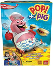 Goliath Games Pop The Pig Game — New and Improved — Belly-Busting Fun as You Feed Him Burgers and Watch His Be