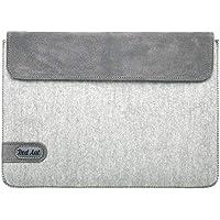 """Handgemacht echtes Fühlte und Leder Tablette Hülle Tablet Tasche Schutzhülle für 10"""" Tablet Geschenk für Mann/Frau, Handmade Fühltetasche Tablet Hülle Ledertasche"""