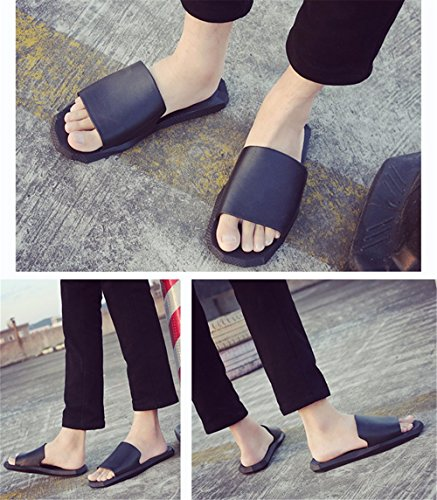 FLYRCX Confortevole e semplice personalità coppia antislittamento pantofole b