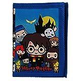 Portefeuille à Trois Volets Personnages Harry Potter Chibi pour Enfants Officiels